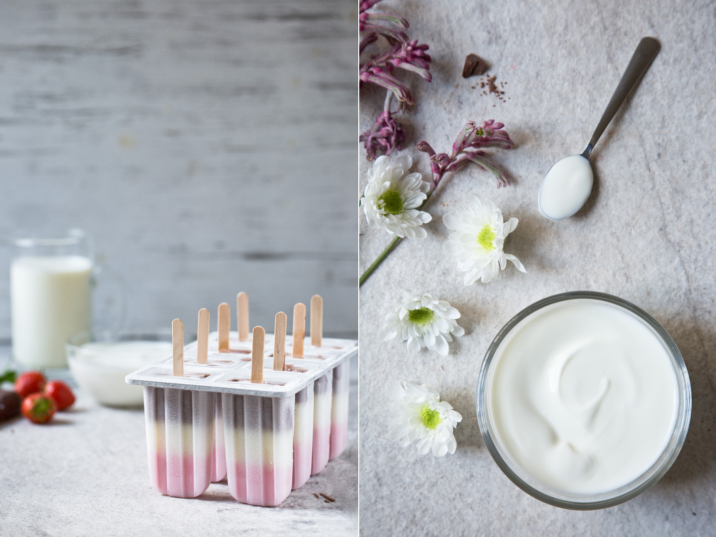 Joghurt Eis am Stiel