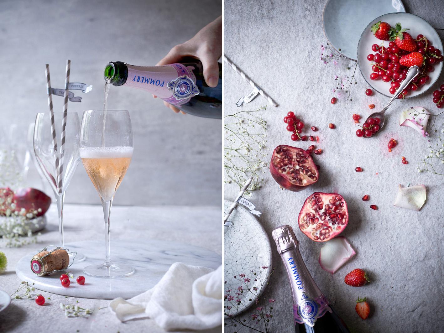 Pommery Champagner eingießen