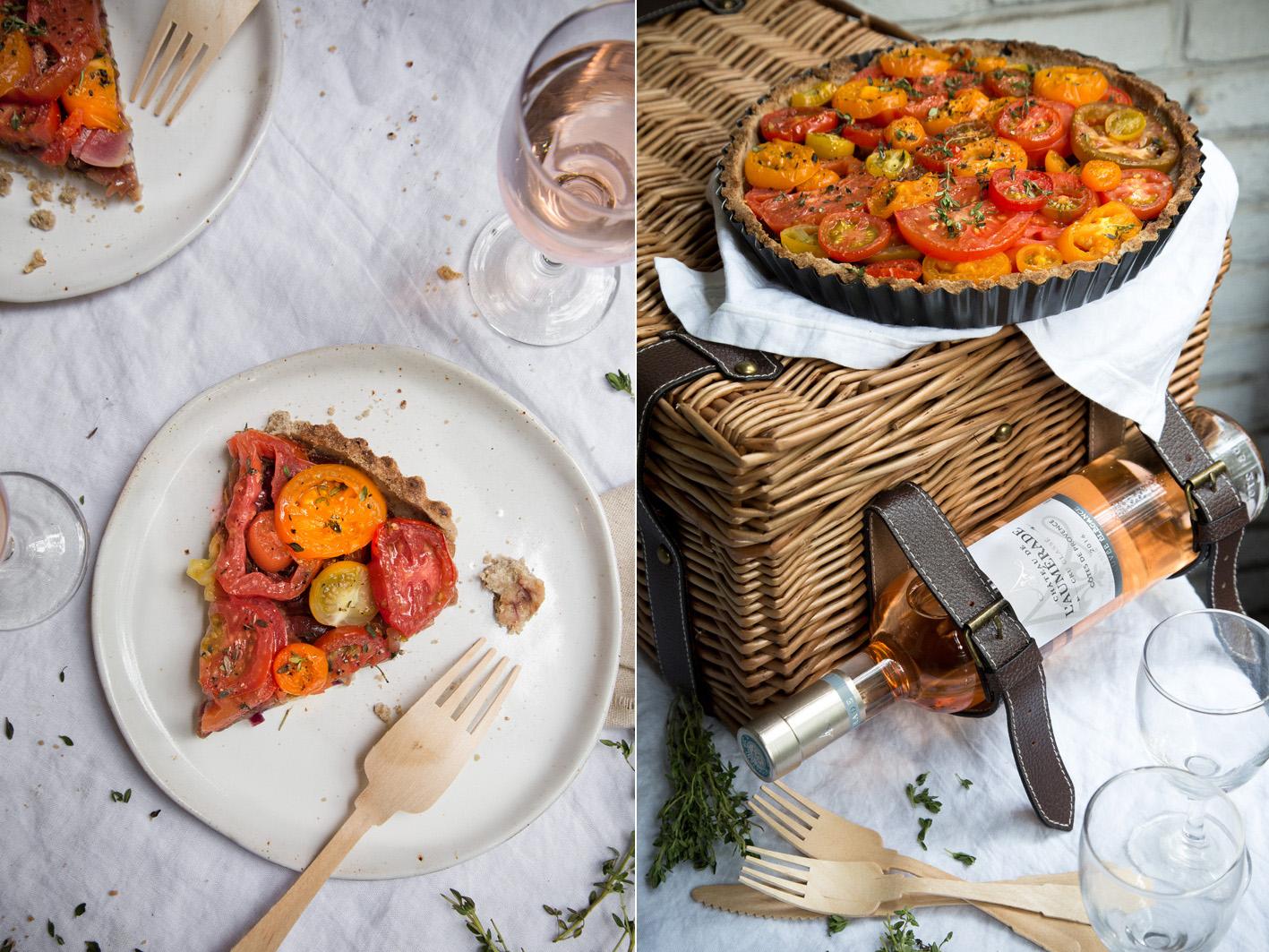 Stück tomatentarte