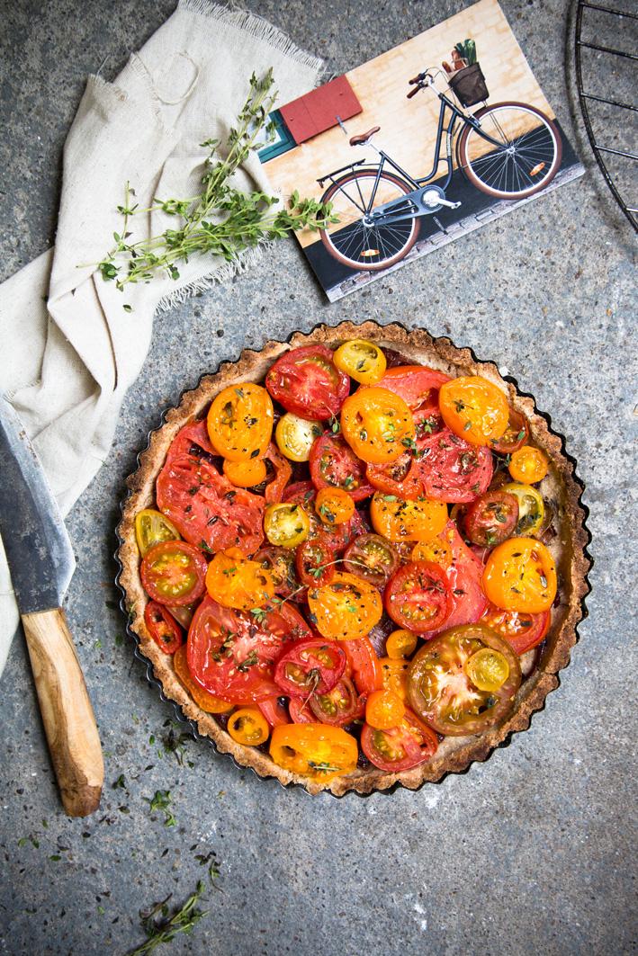 Rezept für eine knusprige Tomatentarte