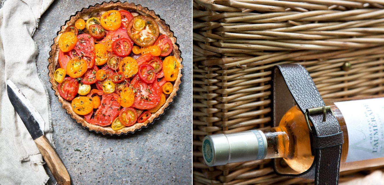 Tomatentarte für ein Picknick à la Provence.