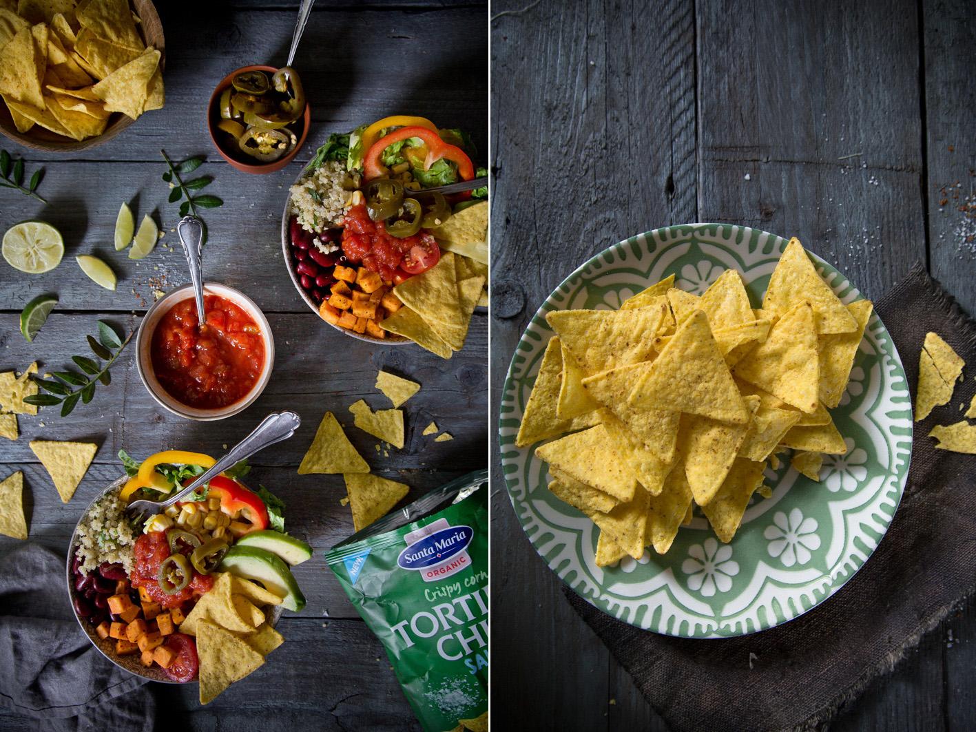Mexikanischer Salat mit Tortilla Chips