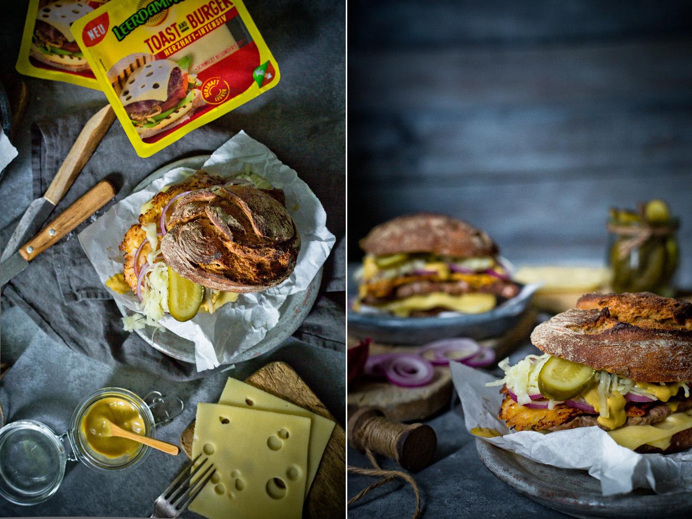 Burger mit Senfrostbraten