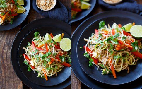 Einfaches Pad-Thai mit Zucchini Spaghetti vom Kochkarussell.