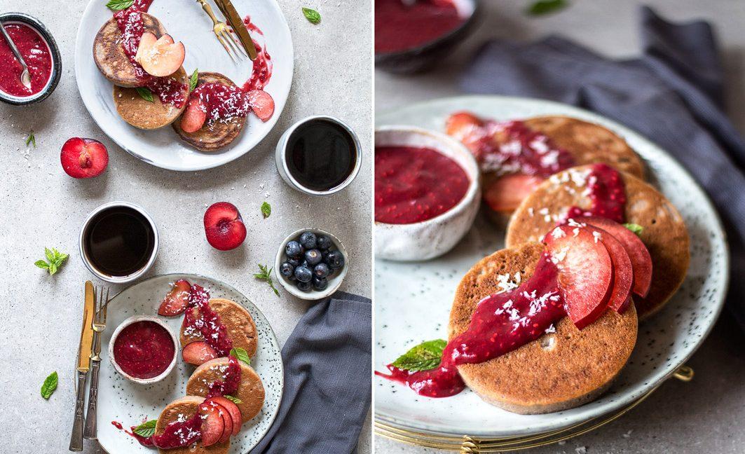 Mini-Buchweizen-Pancakes.