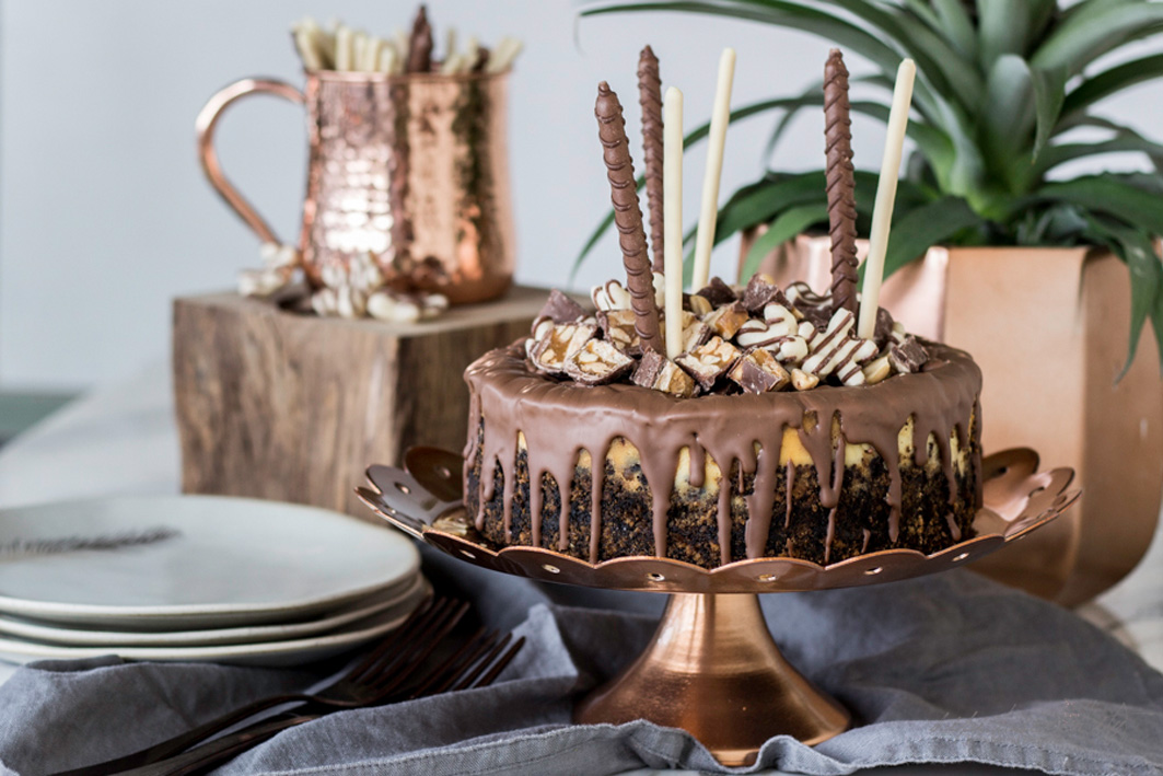 Cheesecake mit Snickers