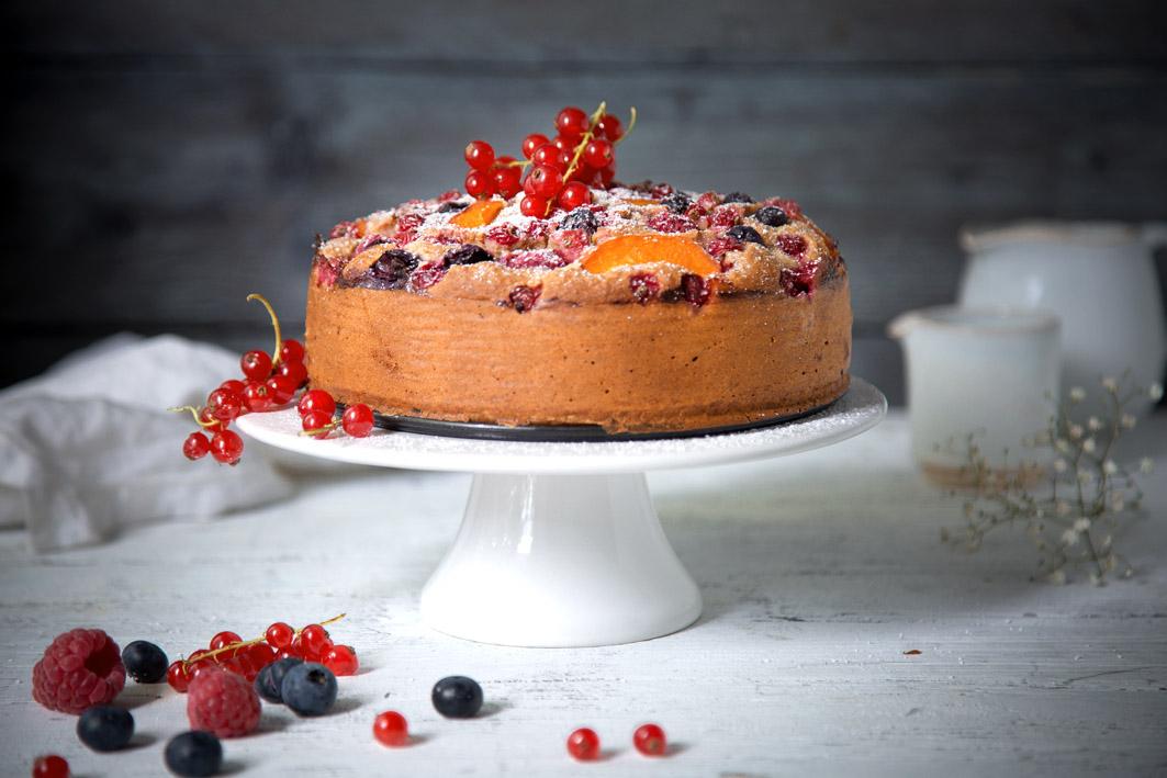 Glutenfreier einfacher Obstkuchen