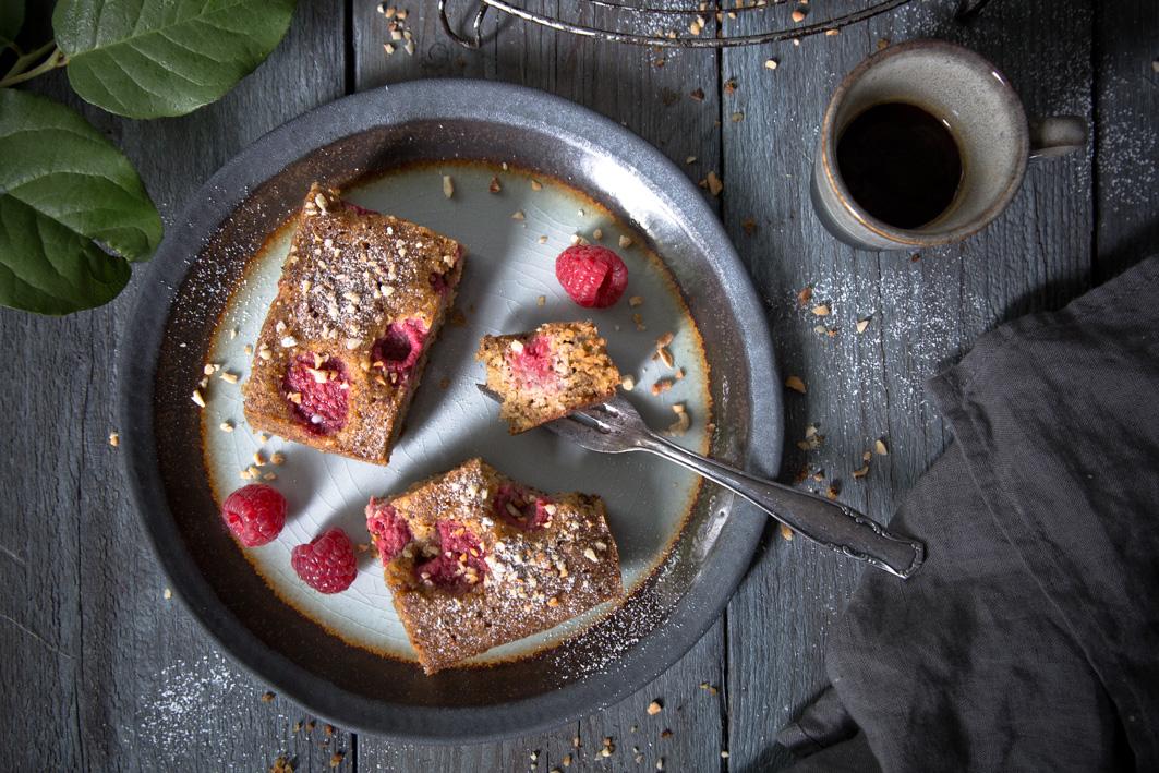 Himbeer-Haselnuss-Kuchen