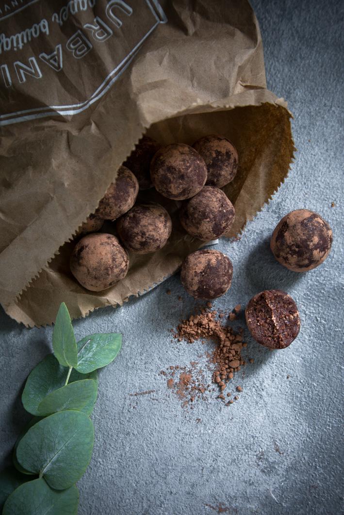 Rezept für schokoladige Brownie Bites
