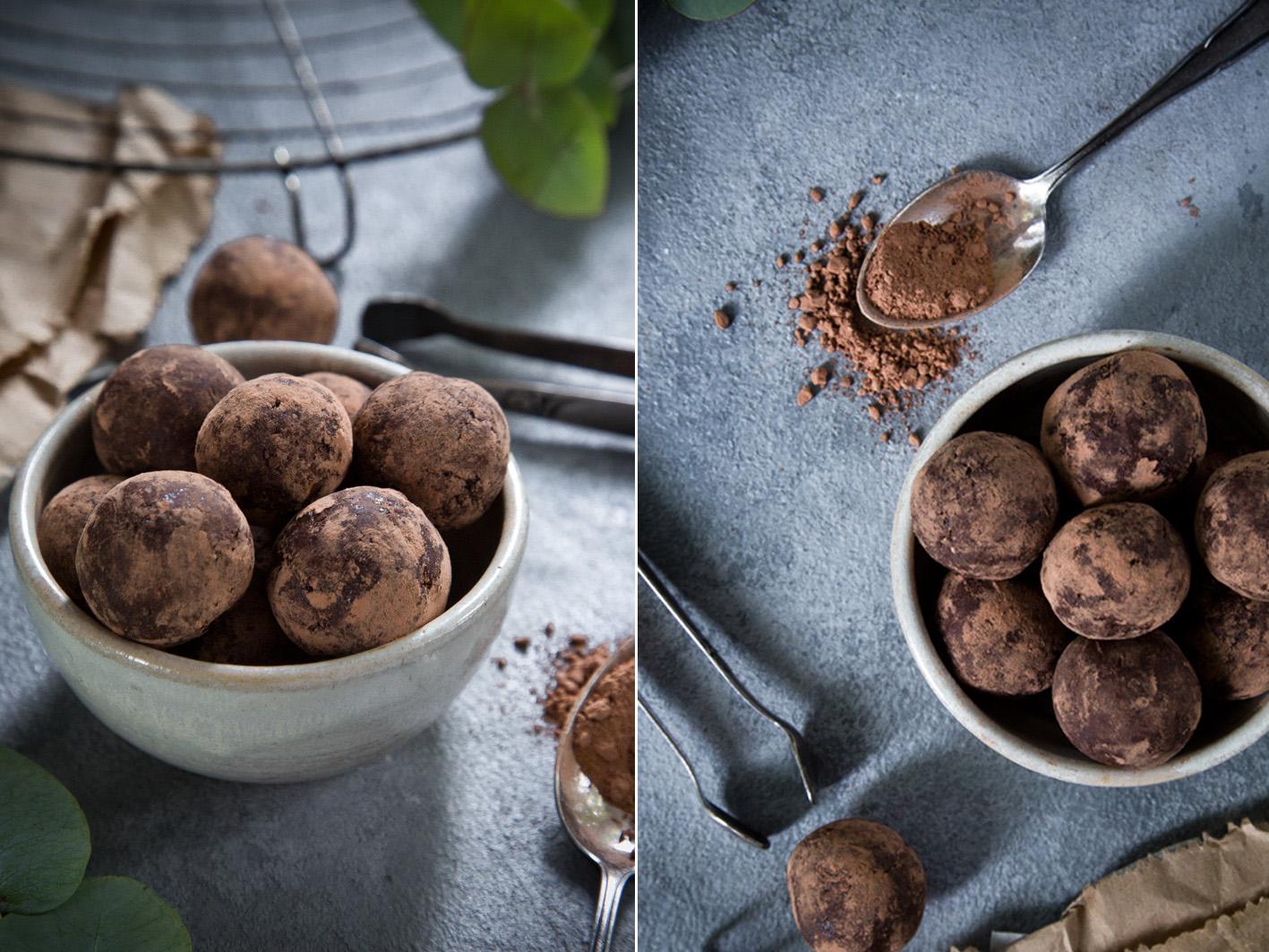 Brownie Bites aus Datteln und Nüssen