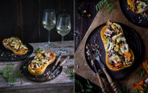 Herbstlich gefüllter Kürbis aus dem Ofen. Alles, was ich am Herbst liebe.