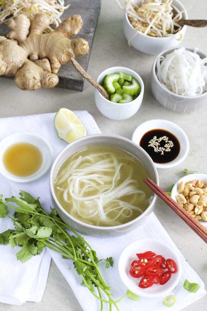 Rezept für Thai-Reisnudel-Suppe