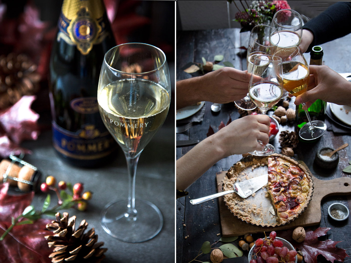 Anstoßen mit Champagner