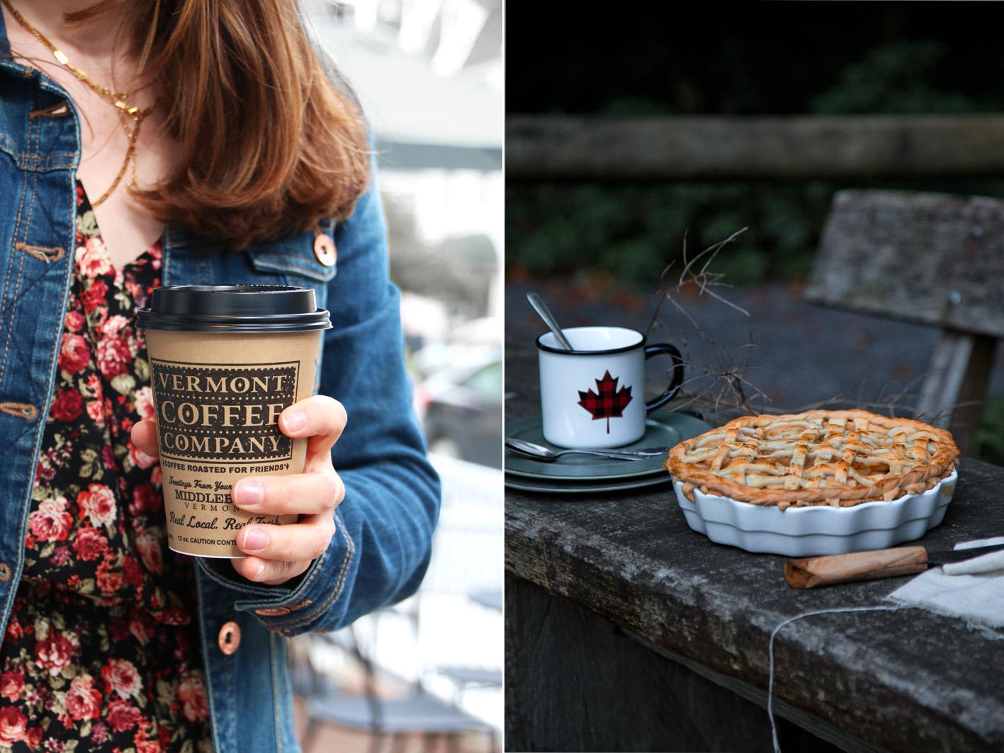 Apple Pie mit Kaffee