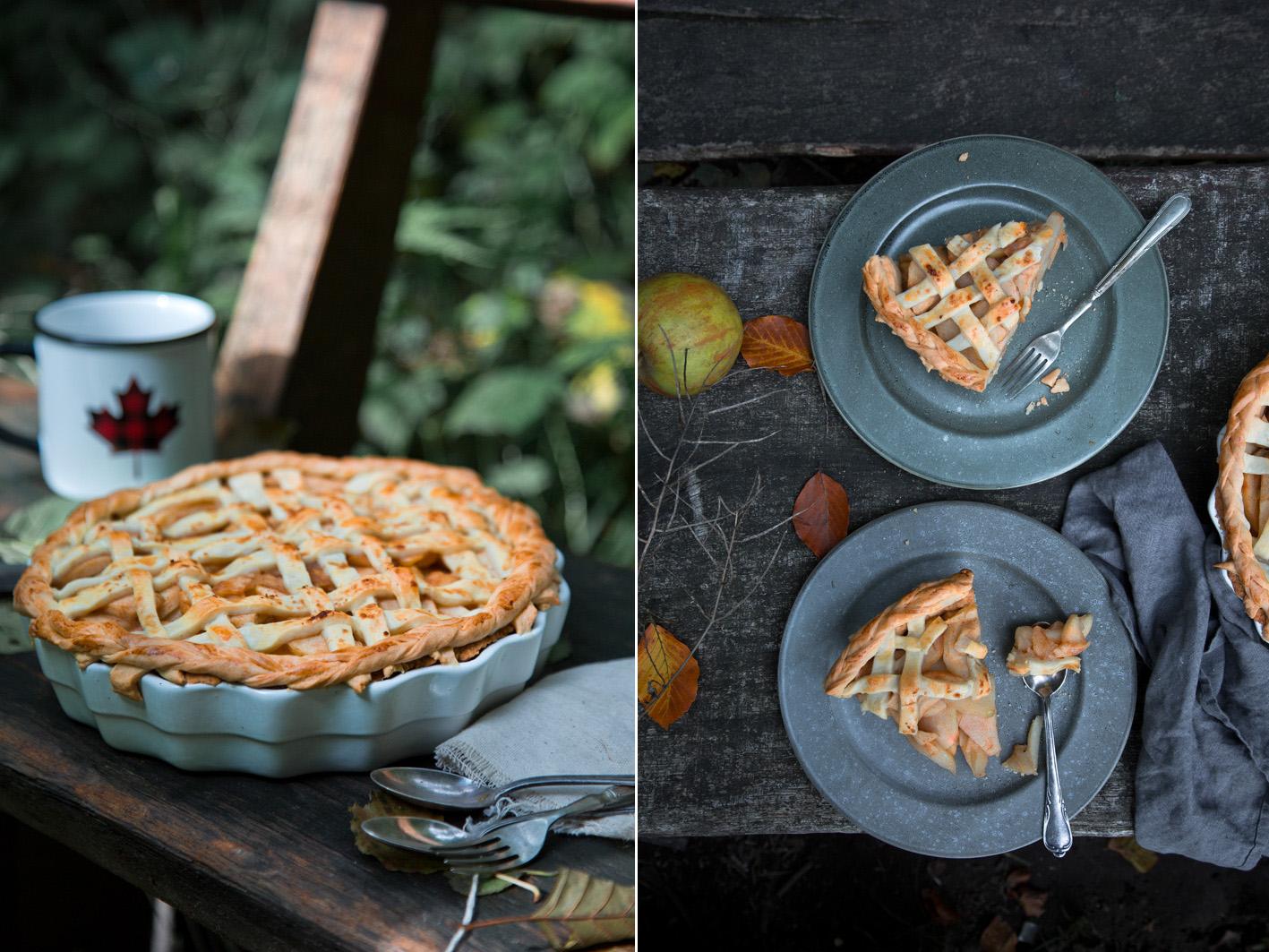Amerikanischer Apple Pie mit Ahornsirup