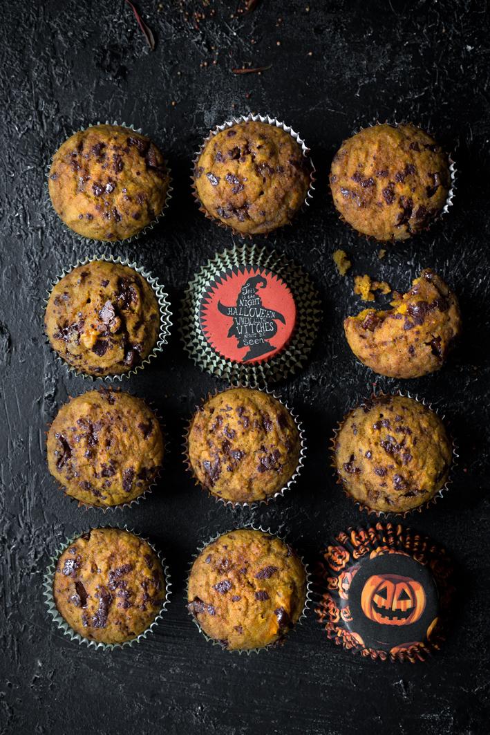 Halloween Kürbis Muffins