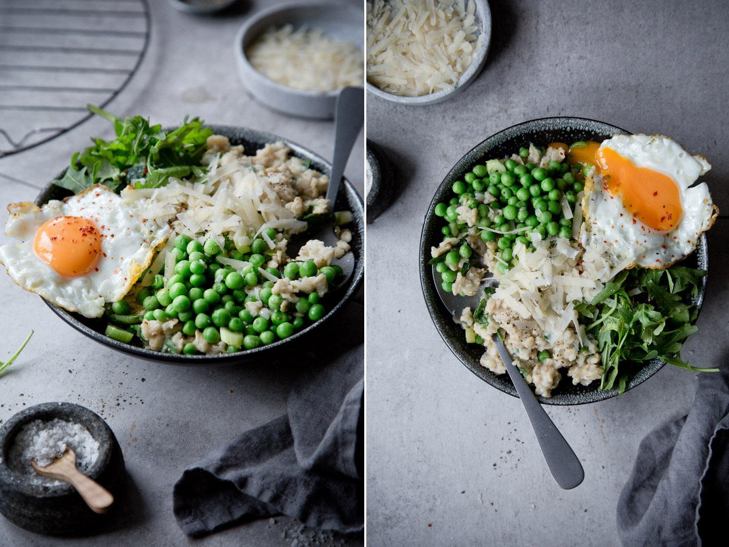Herzhaftes Oatmeal mit Gemüse