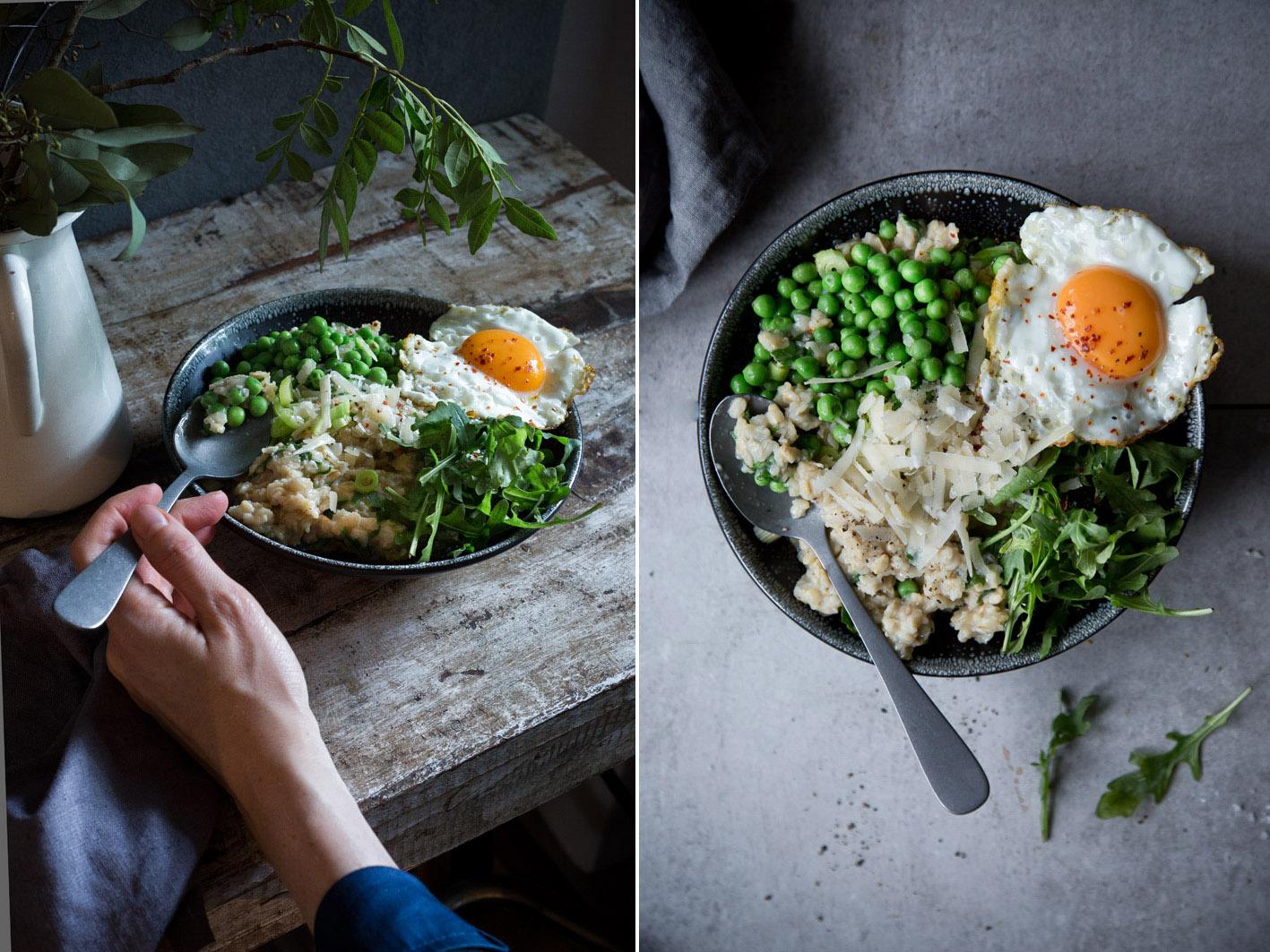 Rezept für herzhaftes Oatmeal