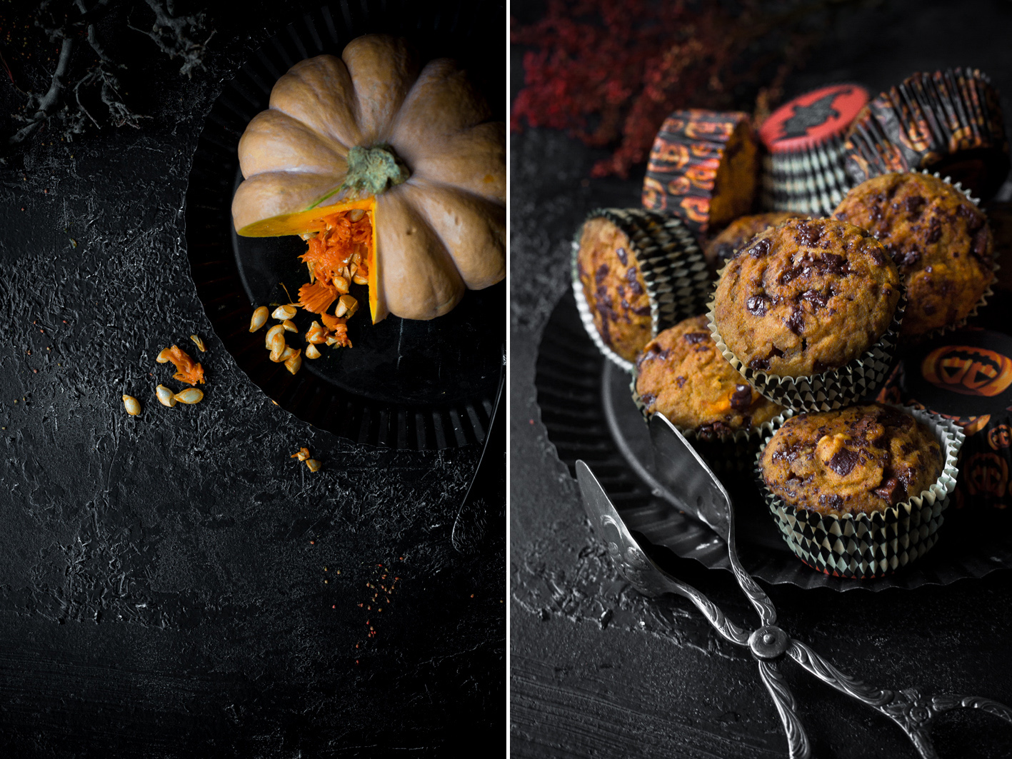 Kürbismuffins mit Schokolade