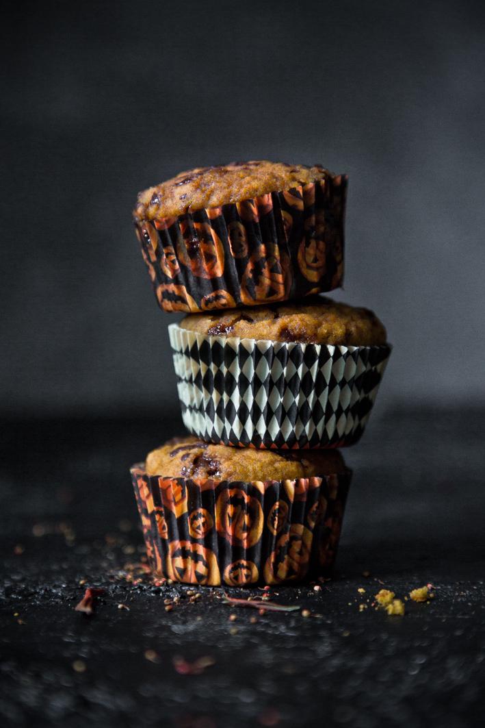 Rezept für Kürbismuffins mit Schokolade