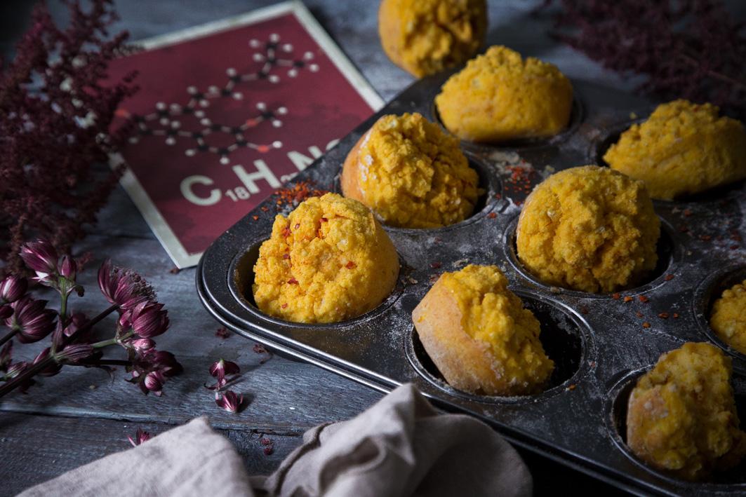 Herzhafte Maismuffins mit Chili
