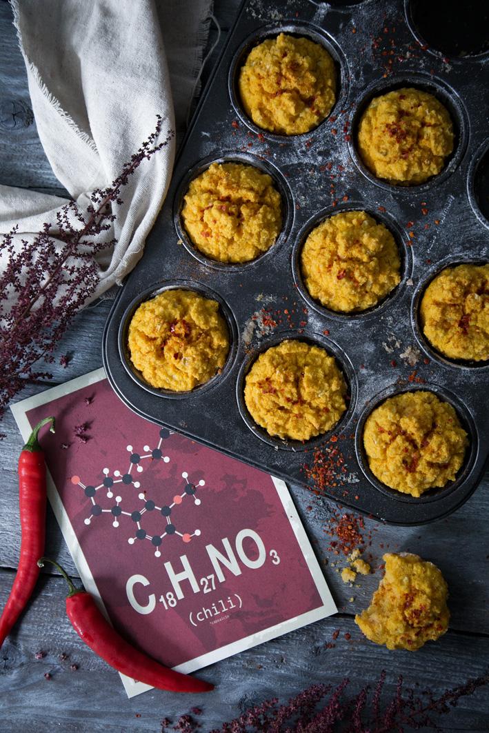 Herzhafte Süßkartoffel-Maismuffins mit Chili (glutenfrei)