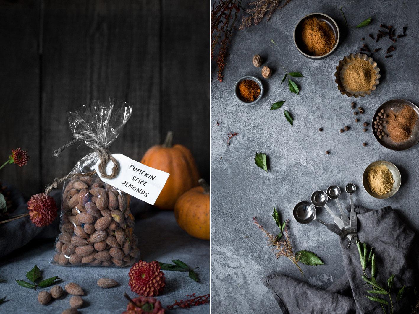 Rezept für geröstete Mandeln mit Pumpkin Spice