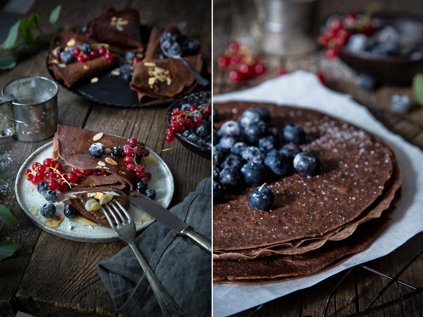 Schokoladen-Crepe mit Beeren