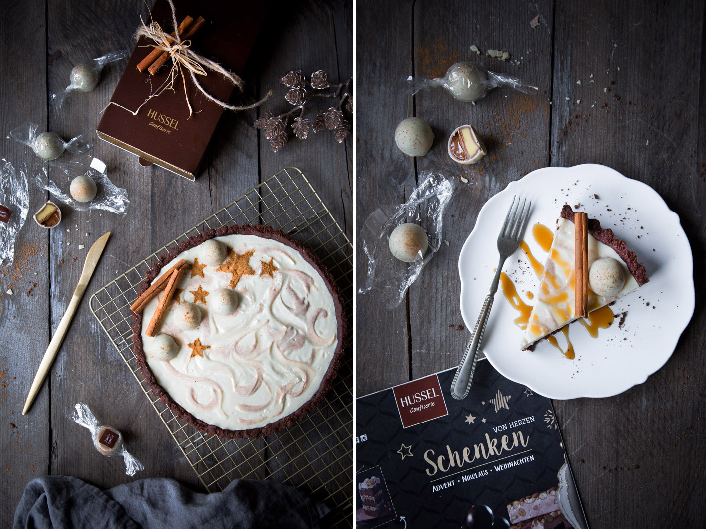 Zimt-Schokoladen-Tarte