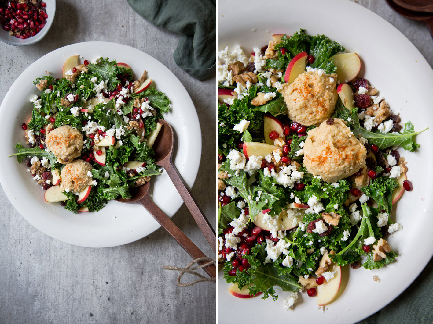 Grünkohlsalat mit Hummus
