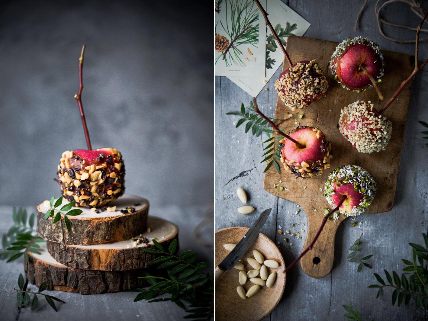 Gesunde Candy Apples mit Nüssen