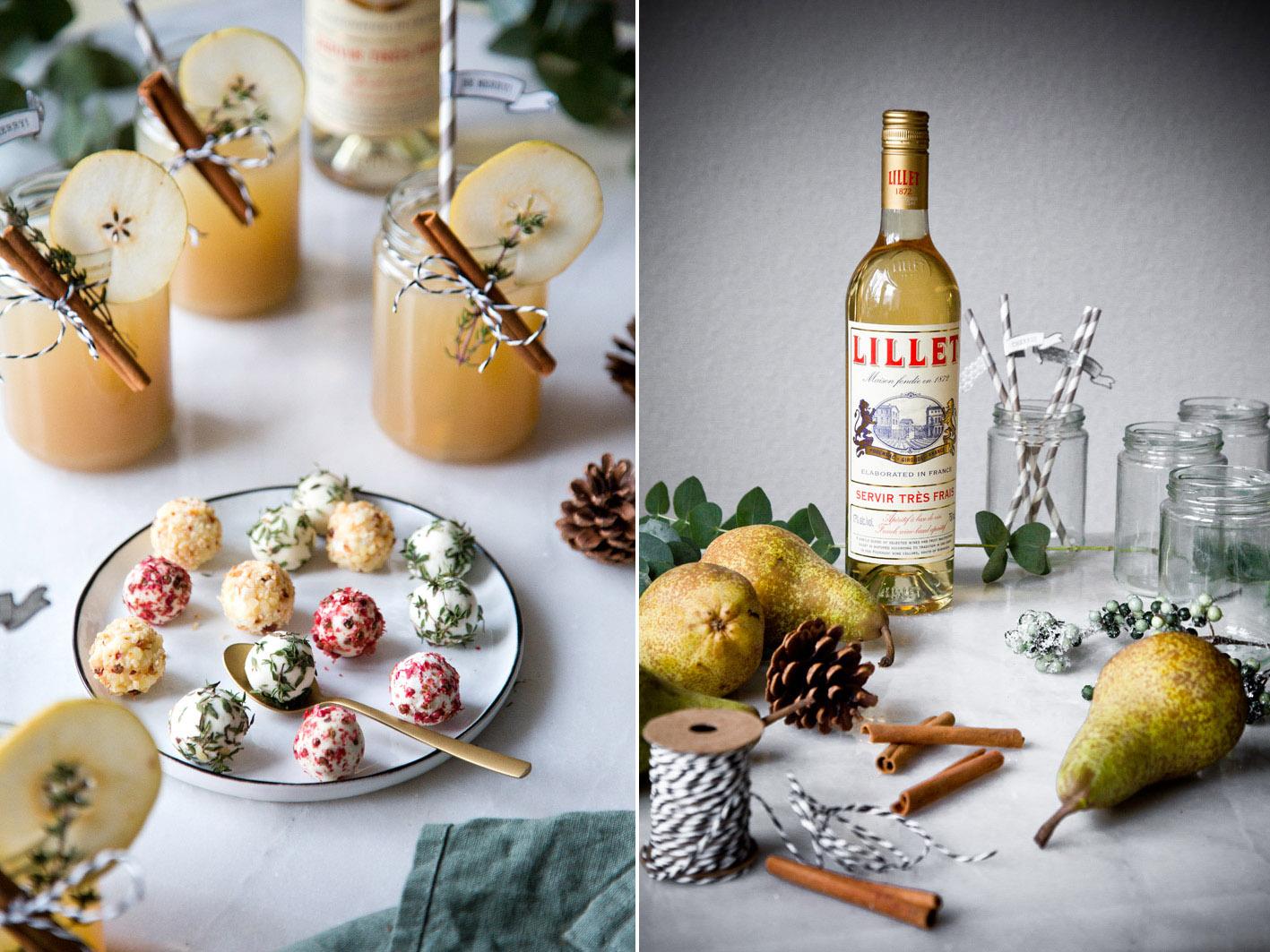 Weihnachtlicher Drink mit Lillet