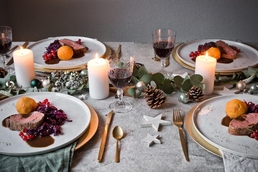 Festliches Weihnachtsmenü