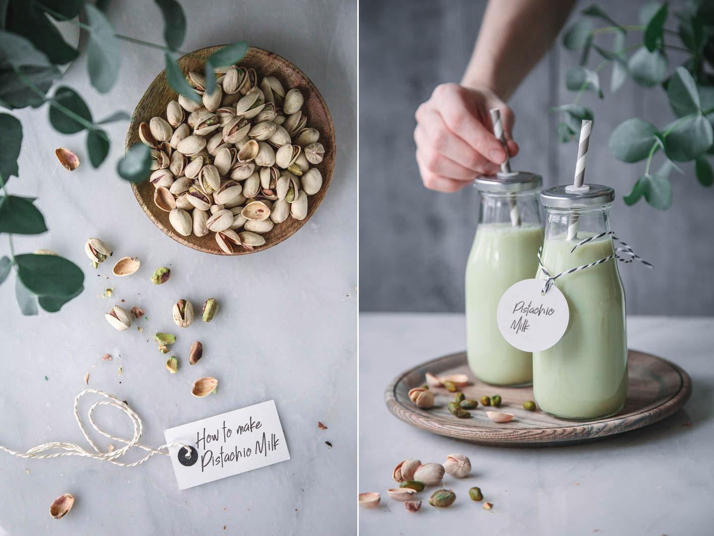 Selbst gemachte Pistazienmilch