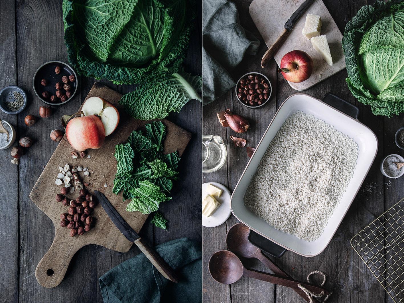 Zutaten für Wirsingrisotto aus dem Ofen