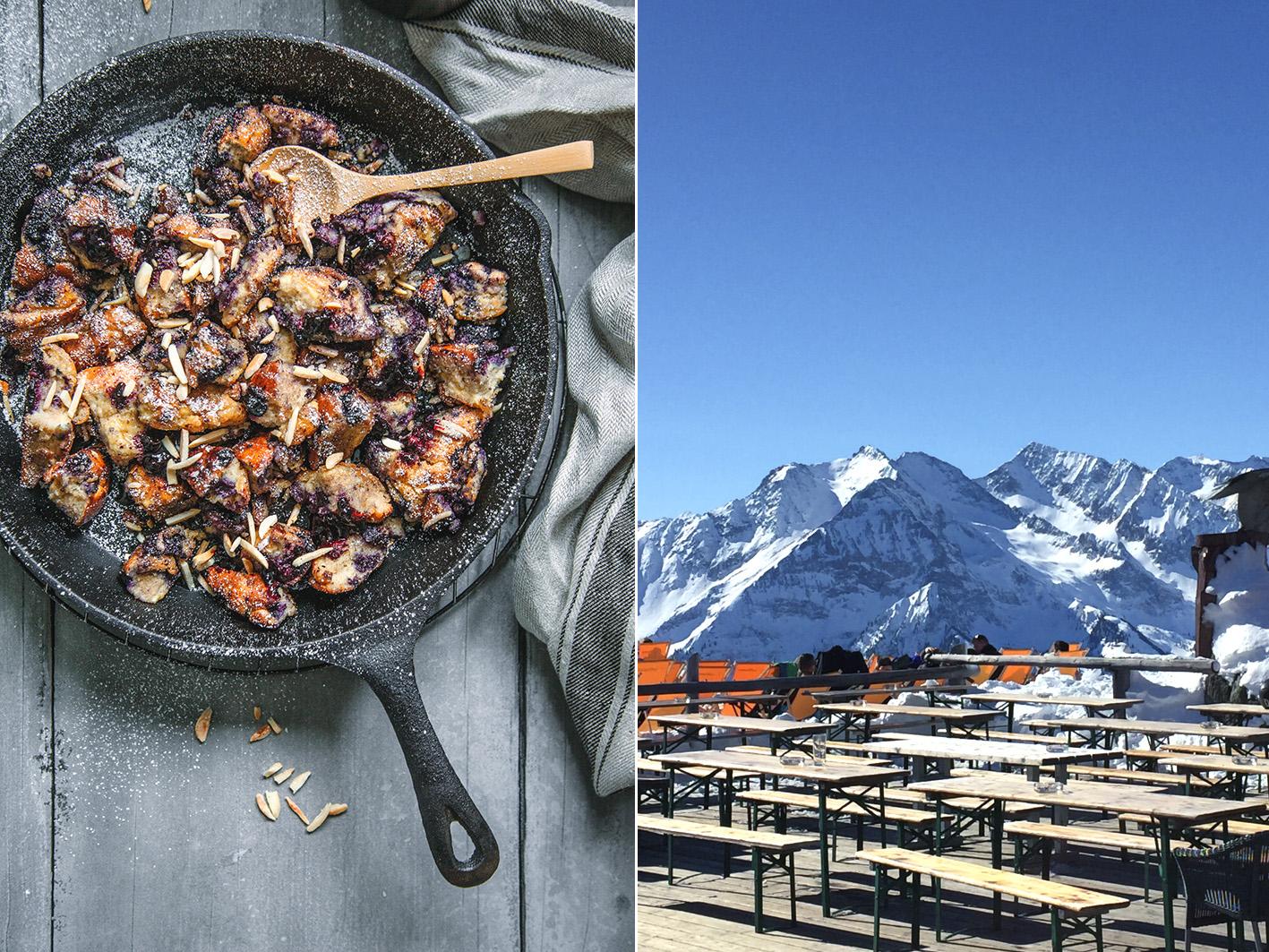 Kaiserschmarrn auf der Skihütte