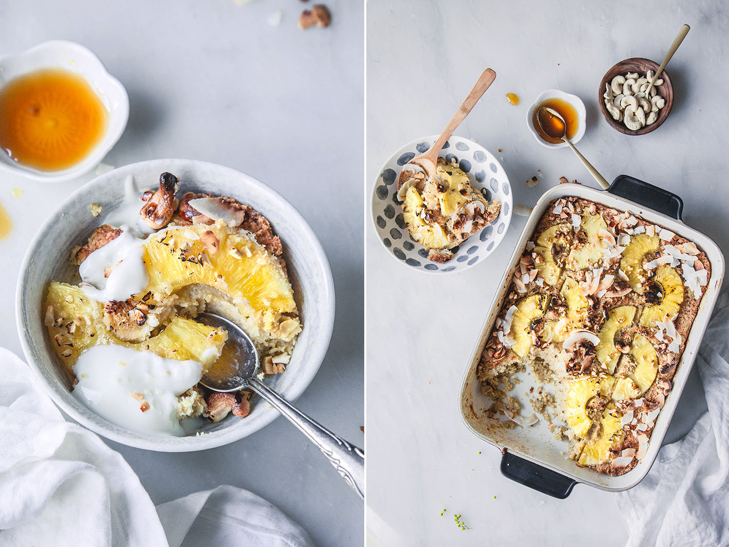 Ananas-Kokos-Frühstücksauflauf