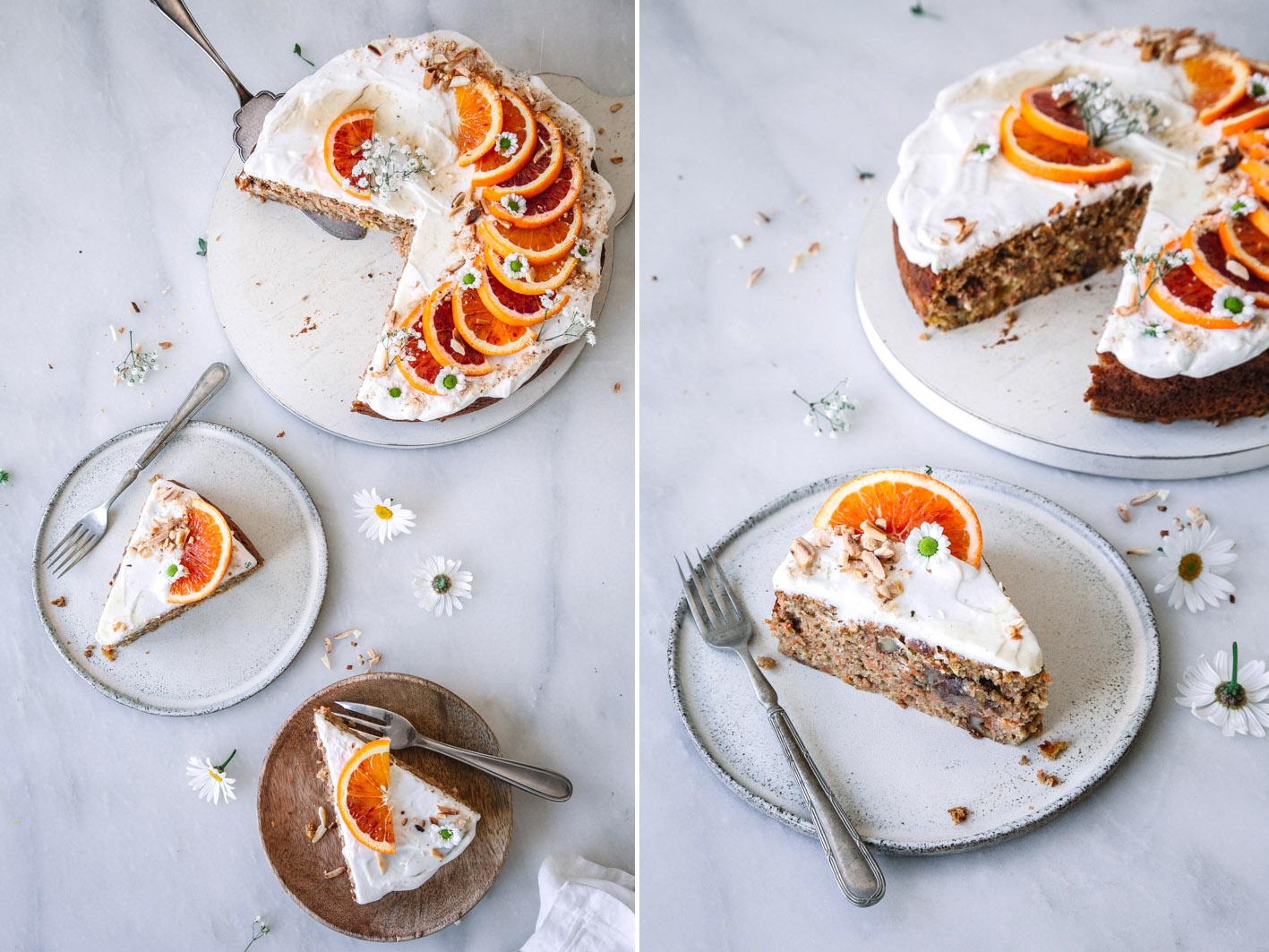 Leichter Orangen-Möhrenkuchen