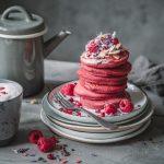 Red Velvet Pancakes mit Roter Bete