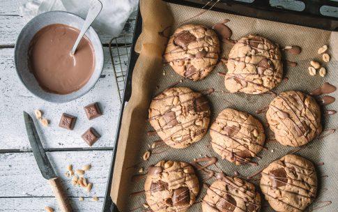 Erdnussbutter-Schoko-Cookies mit Schogetten ültje