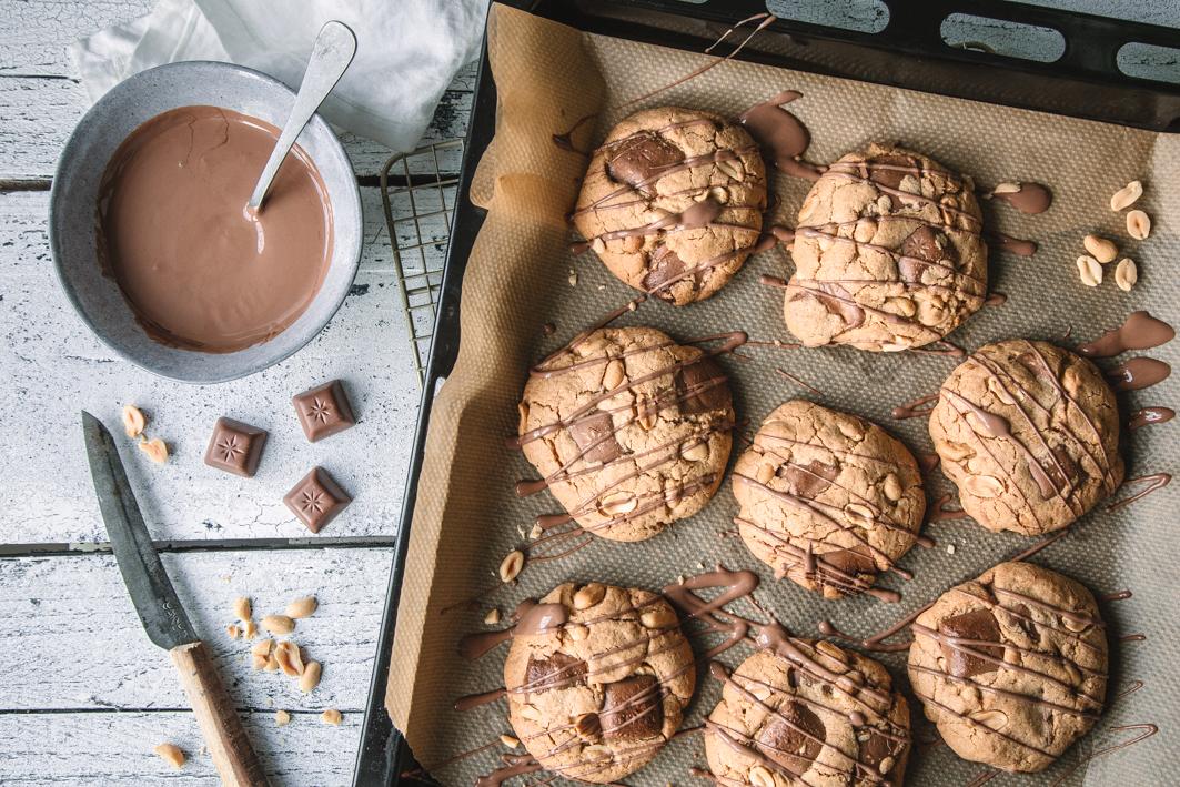 Erdnuss-Schogetten-Cookies