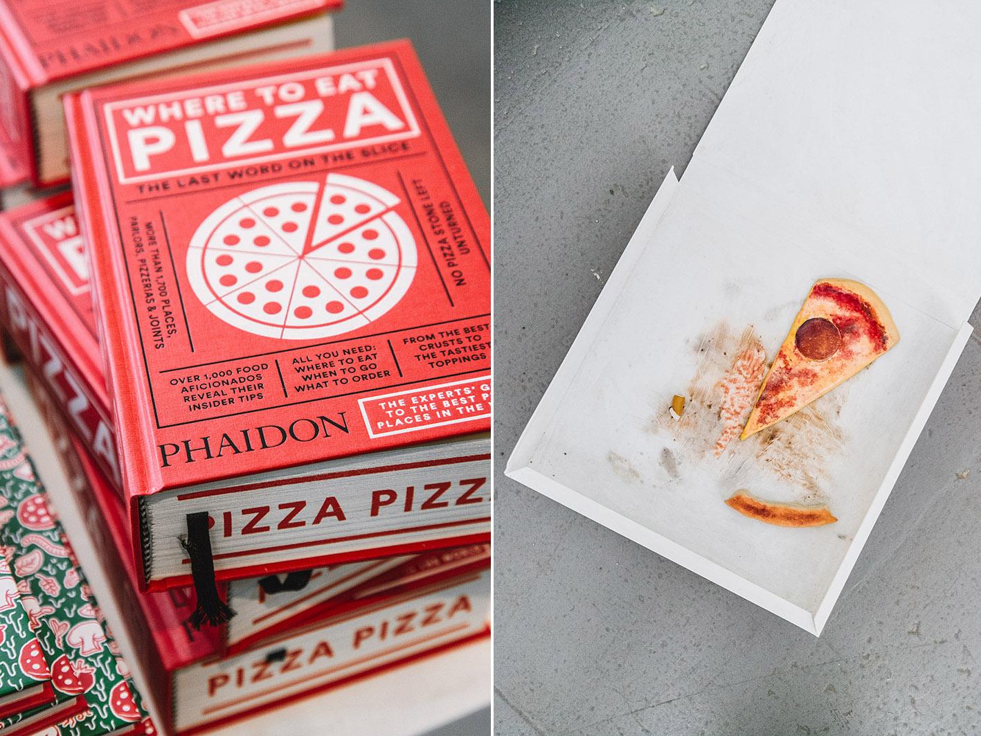 Pizza Stück im Karton