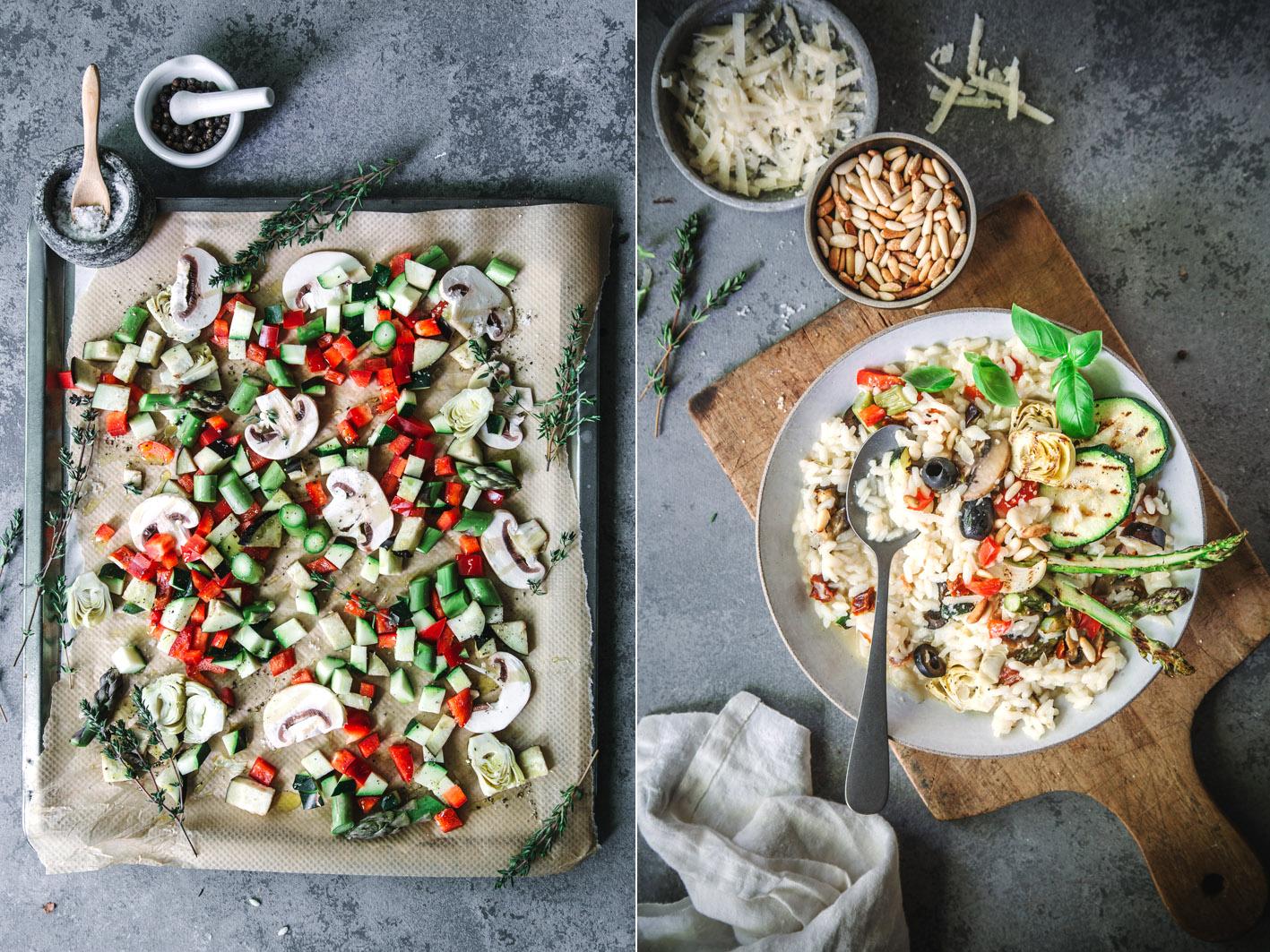 Gemüse für Antipasti-Risotto