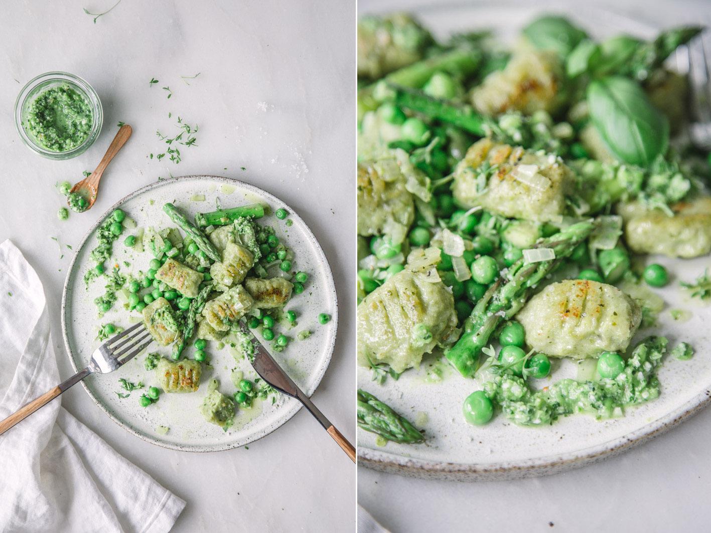 Rezept für grüne Erbsengnocchi