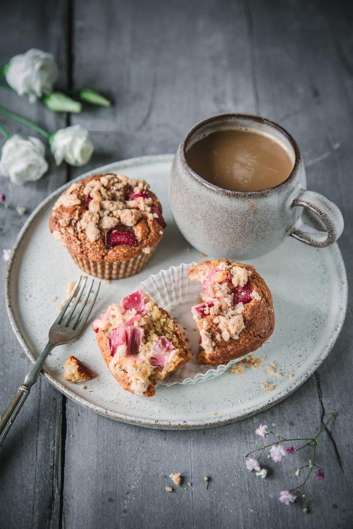Rhabarbermuffins zum Kaffee