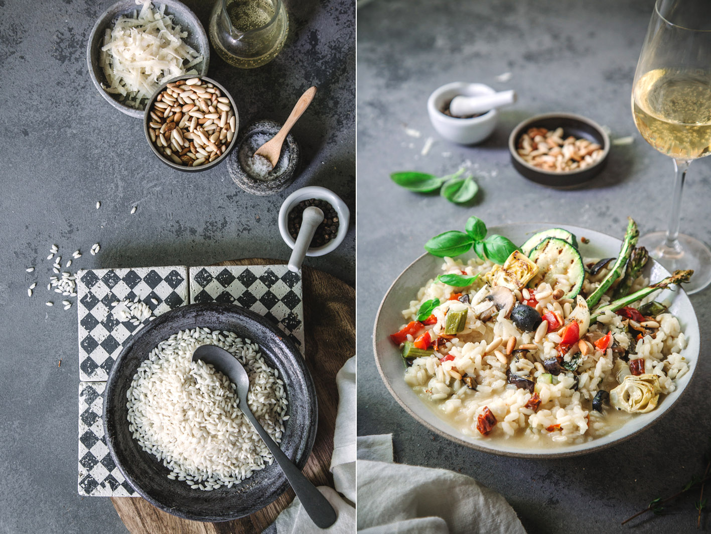Cremiges Risotto mit Antipasti