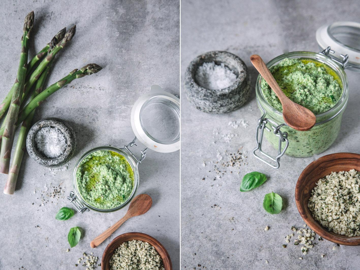 Rezept für veganes Spargelpesto