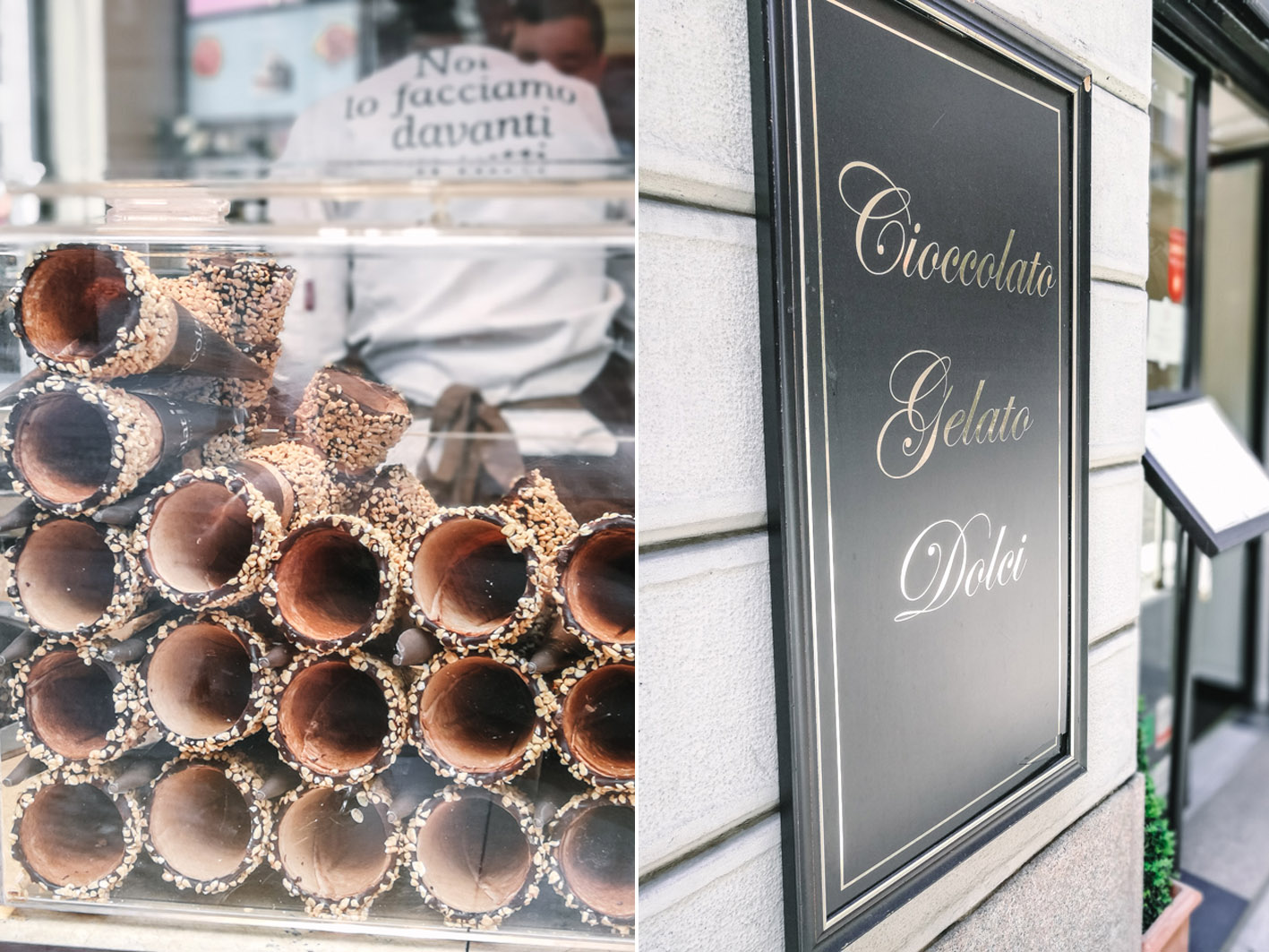 Eis essen in Mailand