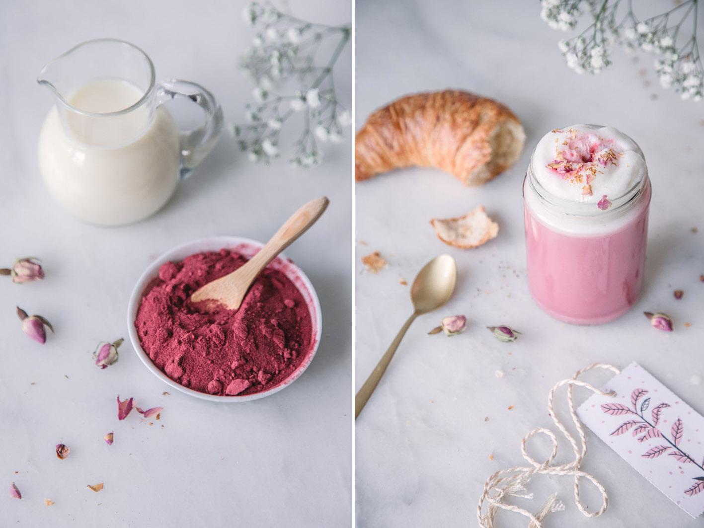 Rezept für Pink Latte mit Roter Bete