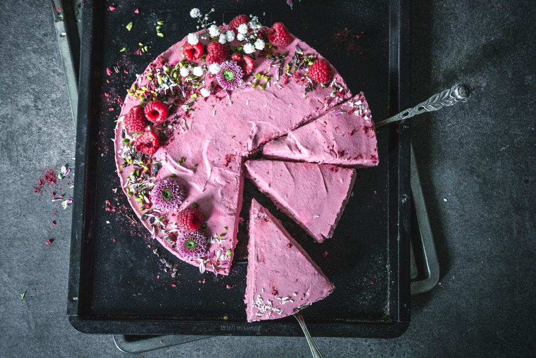 Rote Bete No Bake Cheesecake